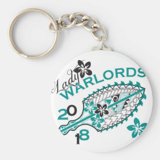 2018 Lady Warlords - White Design Basic Round Button Key Ring