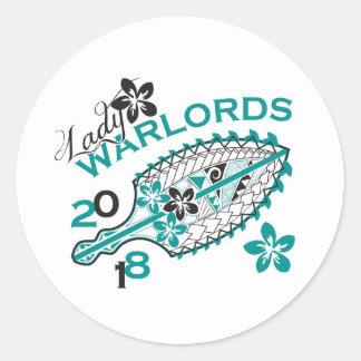 2018 Lady Warlords - White Design Round Sticker