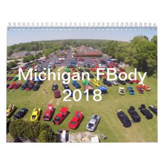 2018 Michigan FBody Calendar