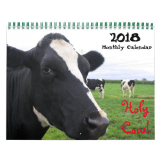 2018 Monthly Cow Wall Calendar Heifers Cattle Cows
