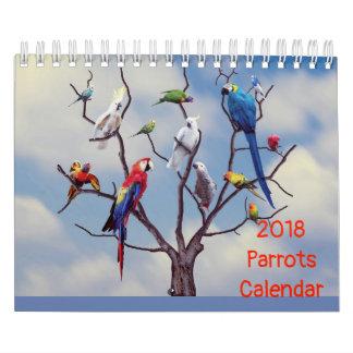 2018 Parrot Calendar