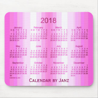 2018 Pink Curtain Art Calendar by Janz Mouse Mat