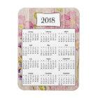 2018 Rustic Floral Wood Calendar Magnet