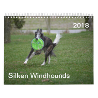 2018 Silken Windhounds (In Action) Wall Calendar