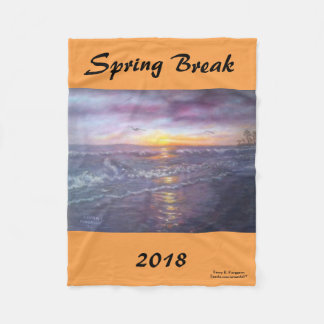 2018 SPRING BREAK FLEECE BLANKET