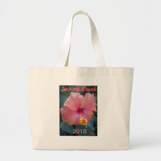 """2018 SPRING BREAK HIBISCUS TOTE"" LARGE TOTE BAG"