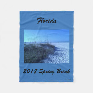 2018 SPRING BREAK SAND AND BEACH FLEECE BLANKET