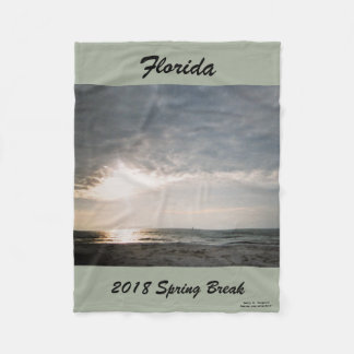 2018 SPRING BREAK SHAFT OF LIGHT FLEECE BLANKET