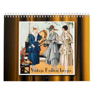 2018 Vintage Fashion Images Calendar