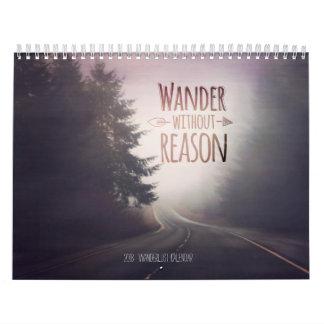 2018 Wanderlust travel calendar