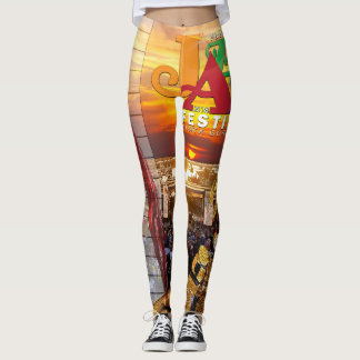 2018 Wine & Jazz Fest Leggings