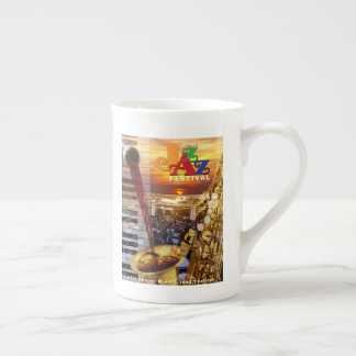 2018 Wine & Jazz Poster on Bone China Mug