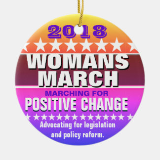 2018 Womans March Christmas Ornament