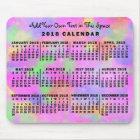 2018 Year Monthly Calendar Rainbow of Paint Custom Mouse Mat