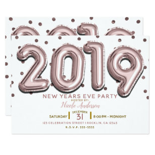 New Years Eve Invitations Announcements Zazzle Uk