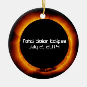 Solar Eclipse 2019 Christmas Ornament Total Solar Eclipse Christmas Decorations | Zazzle.co.uk