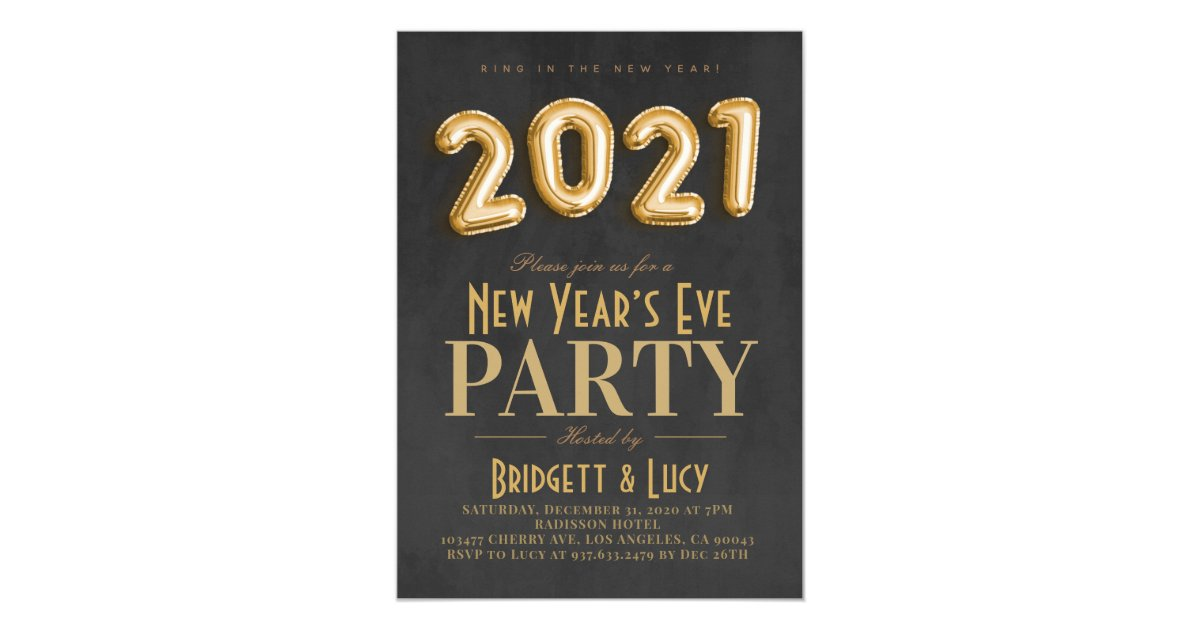 2021 New Year's Eve Party Invitation | Zazzle.co.uk