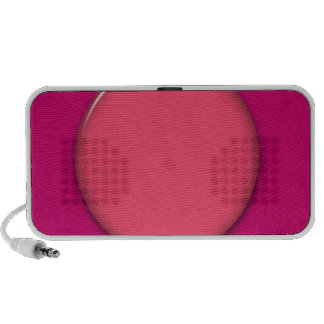 202__neon-pink-brad PINK CIRCLE POLKADOT TEMPLATE Laptop Speakers