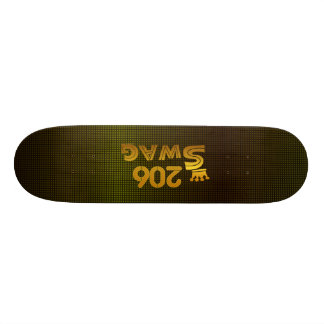 206 Area Code Swag Skateboard