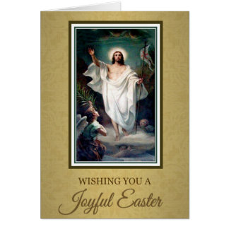 206 Happy Joyful Easter Sunday Greeting Card