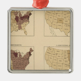 207 Manufactures/sq mile Christmas Ornament