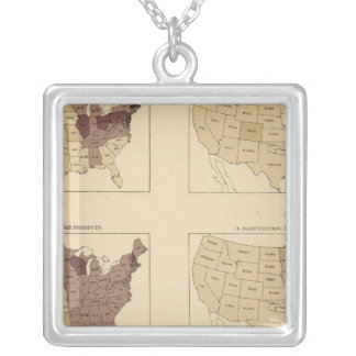 207 Manufactures/sq mile Silver Plated Necklace