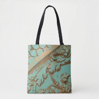 209 - Designer tote bag -  scrolls