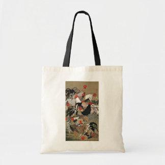 20. 群鶏図, 若冲 Flock of Roosters, Jakuchu Tote Bags