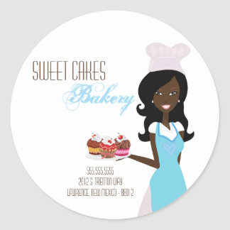"20 - 1.5""  African American Baker Address Stickers"