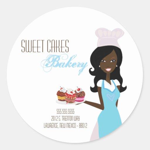 "20 - 1.5""  African American Baker Address Stickers"