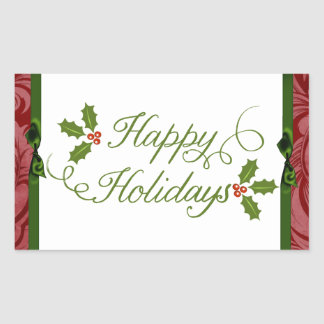 "20 - 1.5"" Envelope Seal Happy Holidays Christmas Sticker"