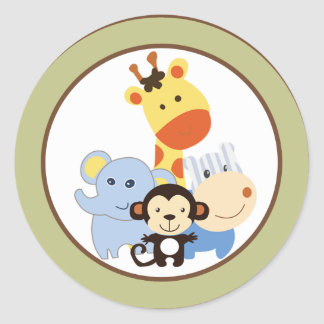 "20 - 1.5"" Envelope Seal Jungle Play Round Sticker"
