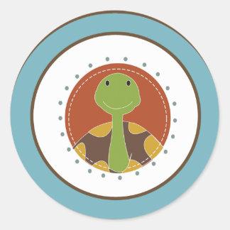 """20 - 1.5"""" Envelope Seal Jungle Tales Safari Round Sticker"""