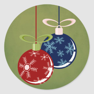 "20 - 1.5"" Envelope Seal Red/Blue Hanging Ornaments Round Sticker"