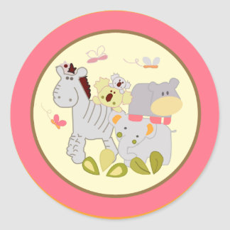 "20 - 1.5"" Envelope Seal Tropical Punch Round Sticker"