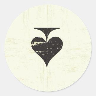 20 - 1.5 Envelope Seal Vintage Casino Love Round Sticker