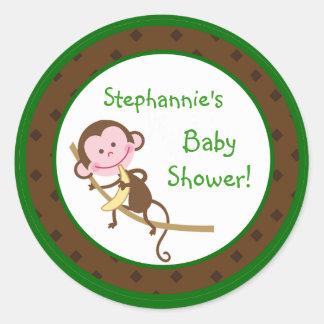 20 - 1 5 Favor Stickers MonkeySwing Jungle Safar