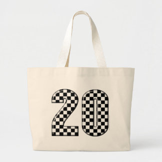 20 auto racing number jumbo tote bag