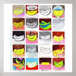 20 Bananas 3x3 Poster