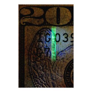 $20 Bill Art Photo  Print