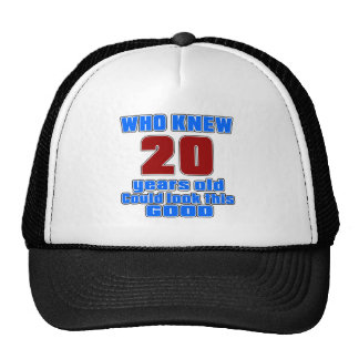 20 birthday designs cap