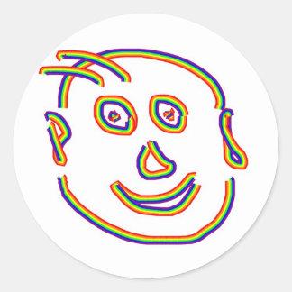 20 Cartoons, Caricature, Birds, Mantra, Reiki Round Sticker