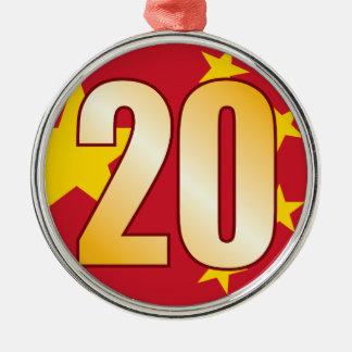 20 CHINA Gold Christmas Ornament