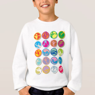 20 cool sports buttons sweatshirt