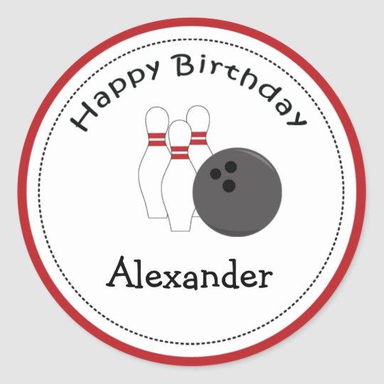 20 Customisable Cupcake Toppers Bowling Party Classic Round