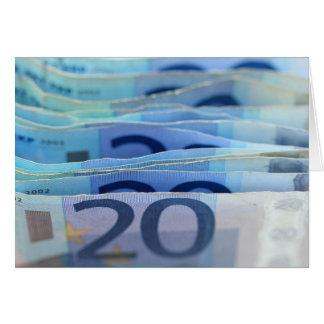 20 euro bills card