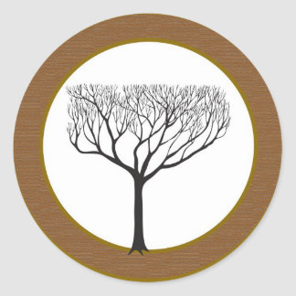 20 Fall Tree Wedding Envelope Seal Round Sticker