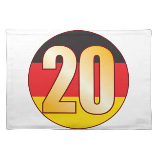 20 GERMANY Gold Placemat