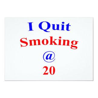 20  I Quit Smoking 13 Cm X 18 Cm Invitation Card