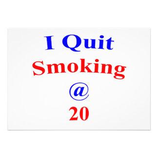 20 I Quit Smoking Custom Invites